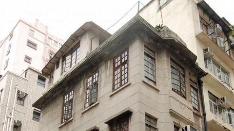 被列為「戰前唐樓」的第二巷 4 號洋溢舊上海風情。