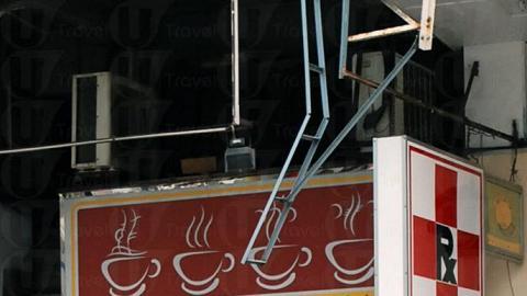 藍山咖啡店面積小小,幾乎整天滿座。