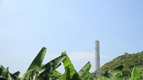 沿著家樂徑一邊走,可看到南丫島的煙囱地標。