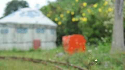 小火車的軌道,可惜現時己停用了。