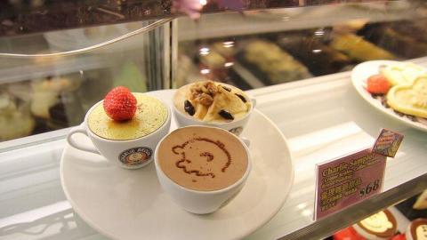 Cafe 亦有甜品供應,非常精緻吸引。