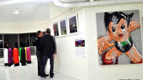 由法國藝術家 Ceet 以傳統塗鴉風格繪畫出的小飛俠。(Ali G, Chokoli Stawberry artist 攝)