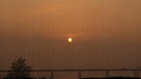 適逢日落時分,在此可欣賞美麗夕陽。