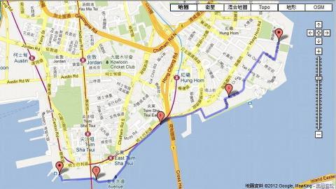 尖沙咀海旁跑道全長3.5km,屬初階級別。