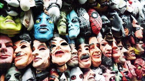 這裏面具這麼多,你想扮邊個?