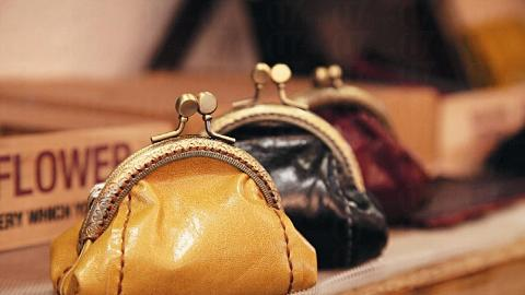 Leather Coin Bag by ztroitella $210