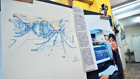 展覽中不但有受訪者繪畫的深水埗,以及他們記憶中的深水埗的口述內容,場內還會播放更詳細的訪問短片。
