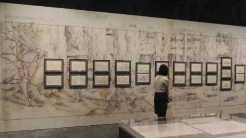 場館 B共有 14 套作品,會先去到《千與千尋》區域,陸續來到的區域有《哈爾移動城堡》、《崖上的波兒》、及《風起了》等。