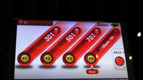飛鏢其中一種玩法:01Games,分有301分,501 分,701分,最多4人對戰,分數扣減至零分者勝