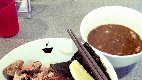 台風的沾麵每日限定 30 碗。