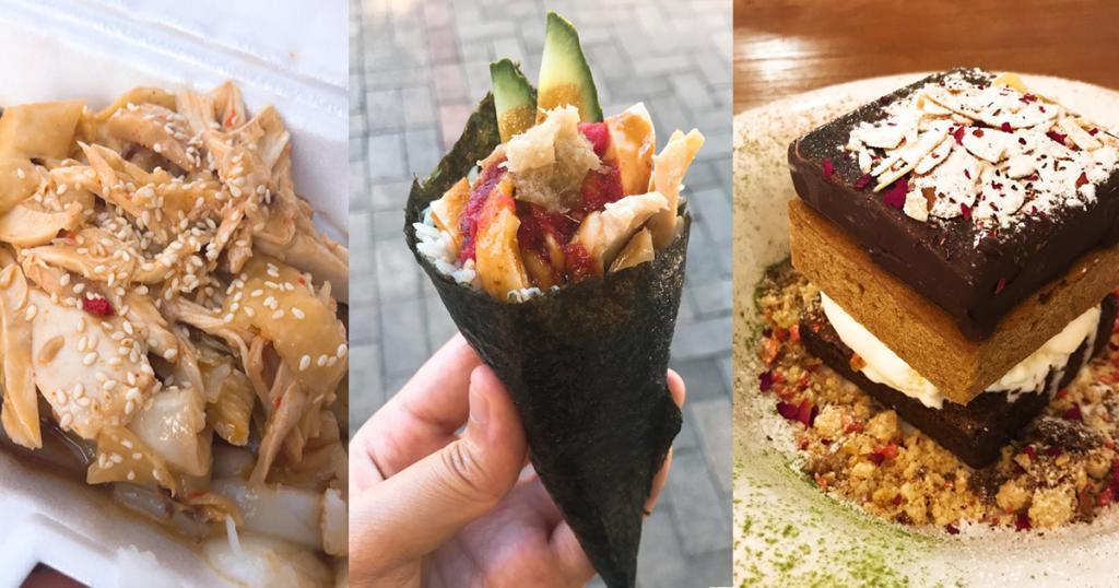 大圍掃街出動 創意海南雞手卷+juicy厚身肉餅漢堡