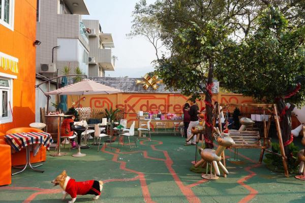 露天地方可供愛犬自由自在地玩耍。(SIX DEGREES CAFE Facebook)