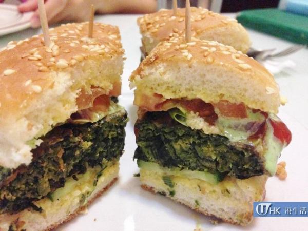 正宗百分百印度全素食品餐廳 印式菠菜漢堡