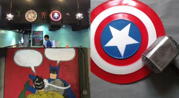 Marvel、英雄、武士主題店