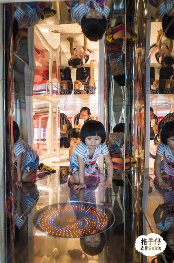 鏡子隧道,上看、下看、前看、左看、右看,怎樣看都是自己的樣子,小朋友最愛!