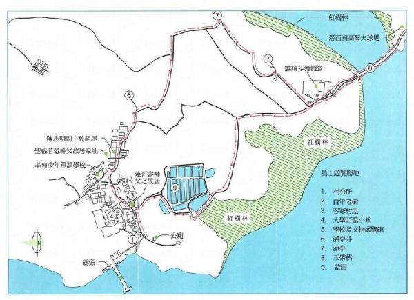 小島不難行走,跟著地圖一定不會迷路。(來源︰鹽田仔陳村長)