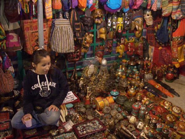 尼泊爾人的檔攤。