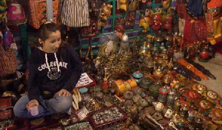 廟街尼泊爾人的檔攤