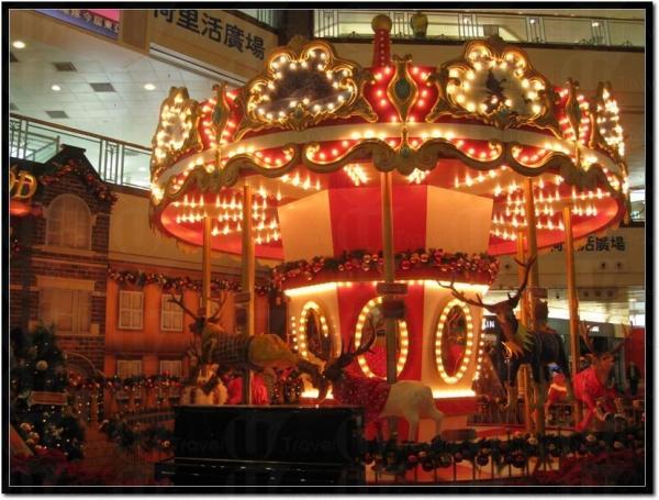荷里活廣場的「天鹿奇緣聖誕夢」,真的很美。