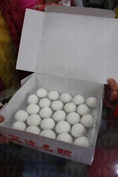 寧波湯圓長期高踞熱賣三甲之一。