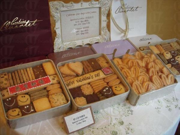 今年大年初一及情人節是同一日,不妨買盒曲奇禮盒給情侶或親戚。