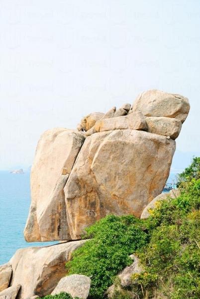 「十大香港最美岩石」之一的「響螺石」,不知巨螺有沒有為漁民帶來幸運呢?