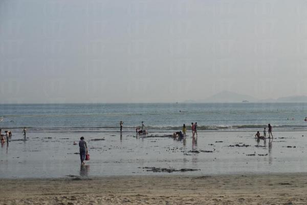 每逢潮退之時,泥灘可達 6 至 7 個球場之大。