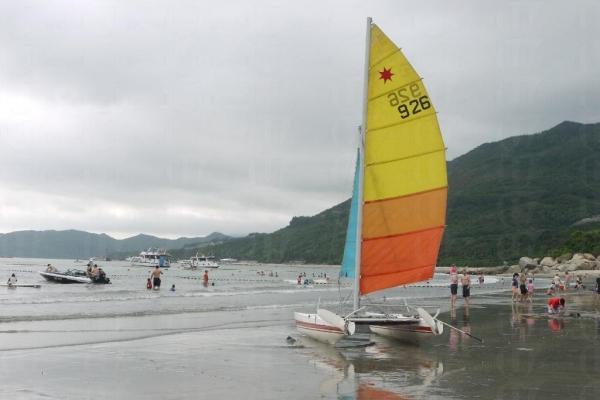 滑浪風帆可讓玩家感受到飛越水面的自由自在。
