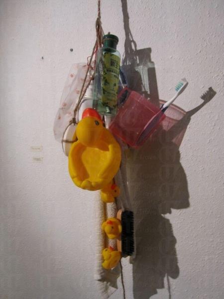 「無啦謂勁架勢發明展」的展品 Bathroom Kit,可見到設計者無比的創意。