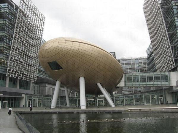 「金蛋」是科學園的地標,實際上是一個演講廳。