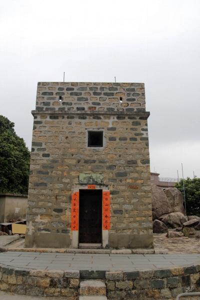 白芒村的更樓在二戰時期曾抵禦日軍的攻擊。