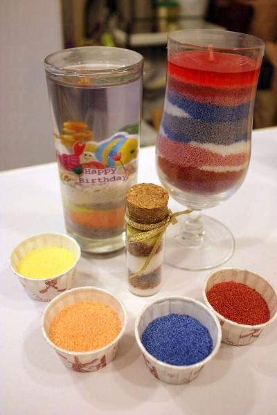 店內尚有凍蠟及彩沙蠟製作班,同樣可以運用心思創意。