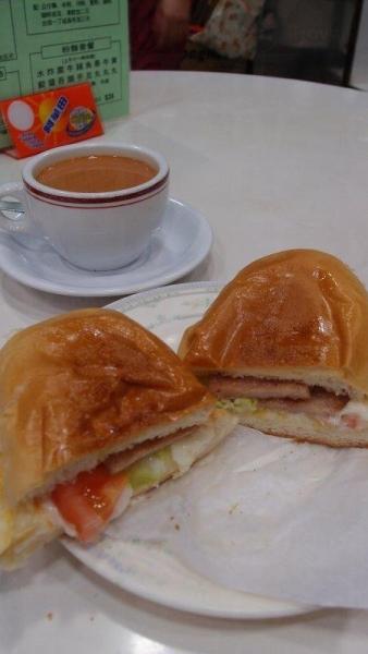 下午茶豬扒包餐,盛惠 $23。