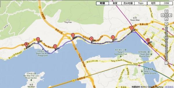 這 7 km 路線斜路灣道兼備,屬中級難度。