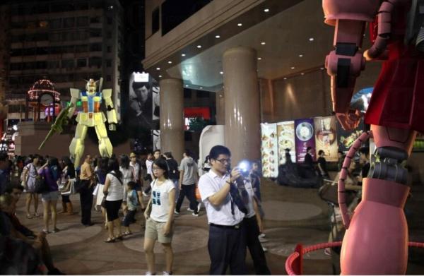 時代廣場將變成日本以外,全球最大型的「高達基地」。