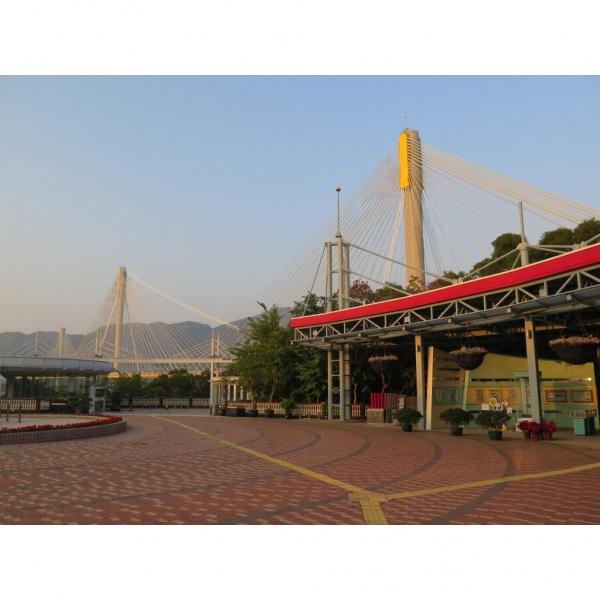 青嶼幹線訪客中心背後是汀九橋