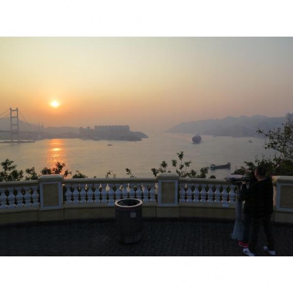 一起看落日美景