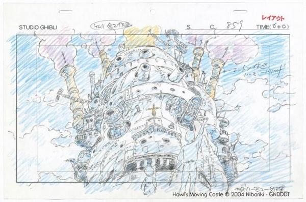 《哈爾移動城堡》原稿(2004年)