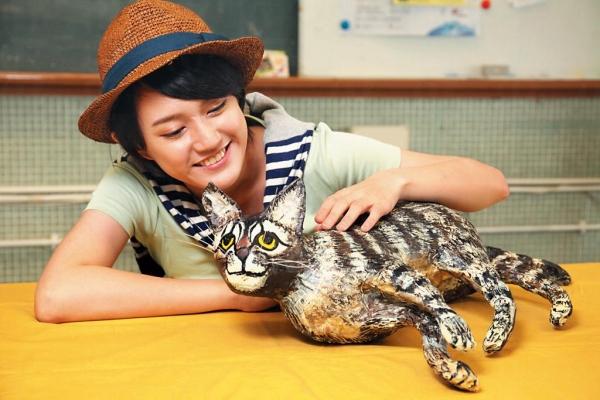 立體紙塑貓咪形態像真,太可愛!